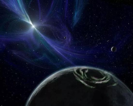脉冲星PSR 1257+12系外行星系统示意图