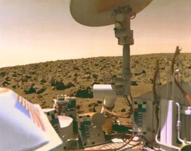 海盗号火星车拍摄的画面