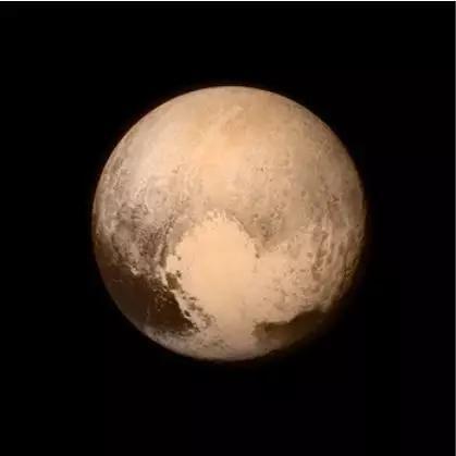 新视野号拍到的冥王星。